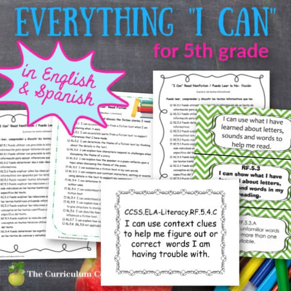 """Everything """"I Can"""" Common Core for 5th Grade"""