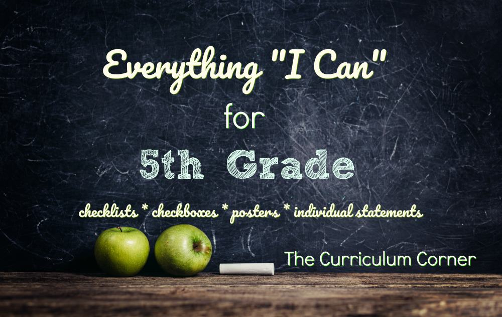 "Everything ""I Can"" Common Core for 5th Grade"
