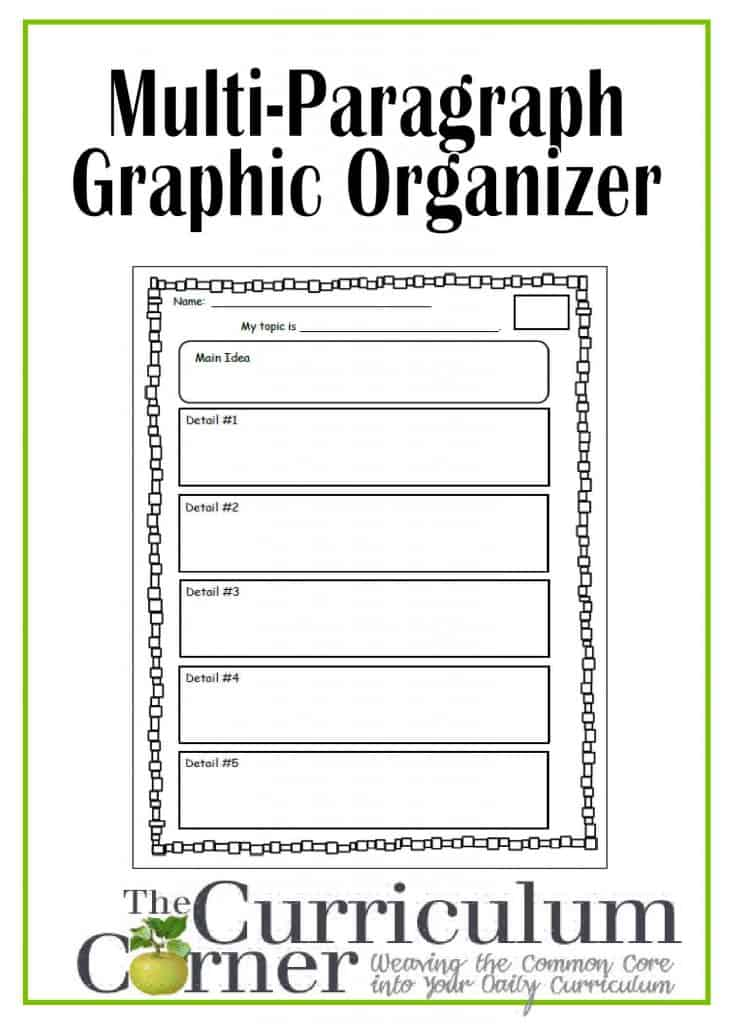 Multi-paragraph graphic organizer for students | FREE | The Curriculum Corner