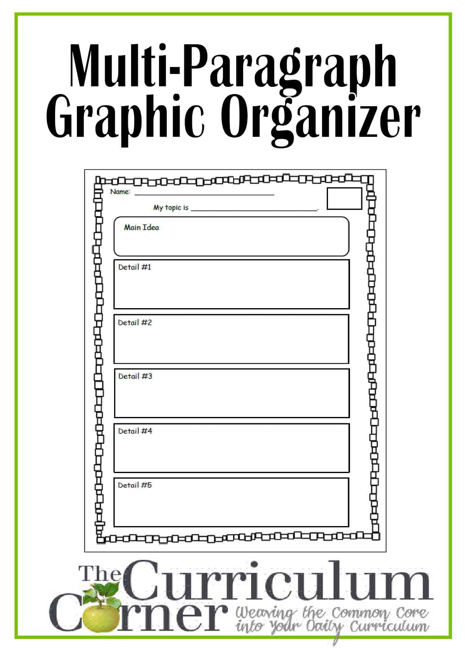 photo relating to Main Idea Graphic Organizer Printable identify Review Paper Organizer For Fundamental Pupils - Education