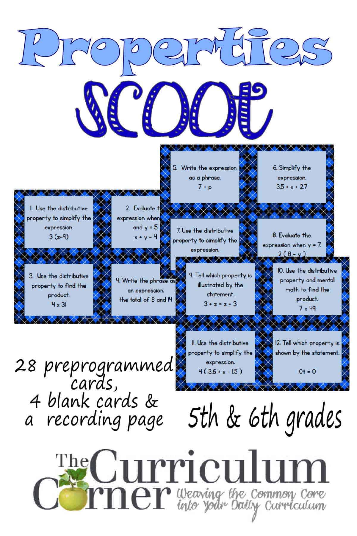 Math Properties Scoot
