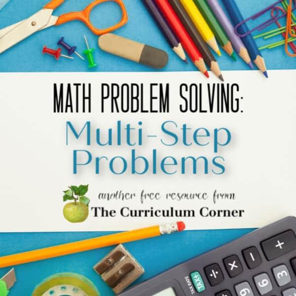 Multi-Step Word Problem Work Mats