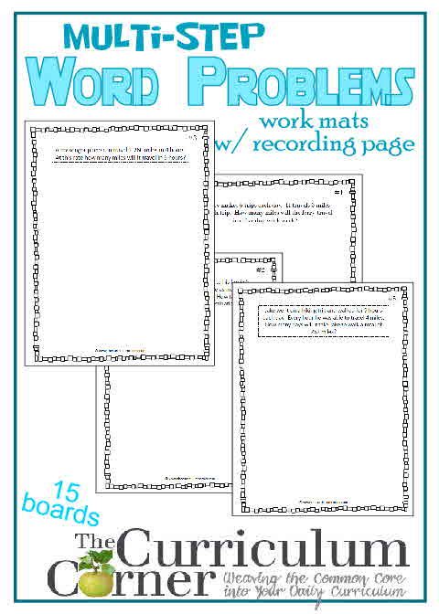 Multi-Step Word Problem Work Mats