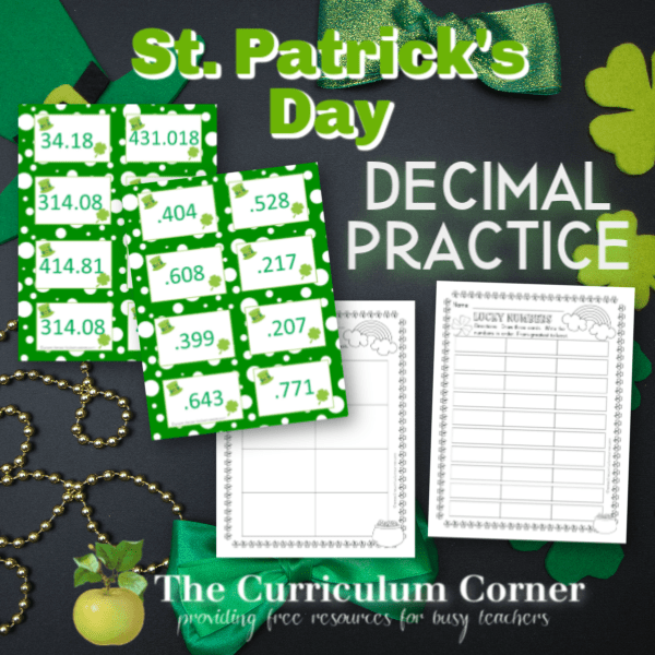 Comparing Decimals | St. Patrick's Day