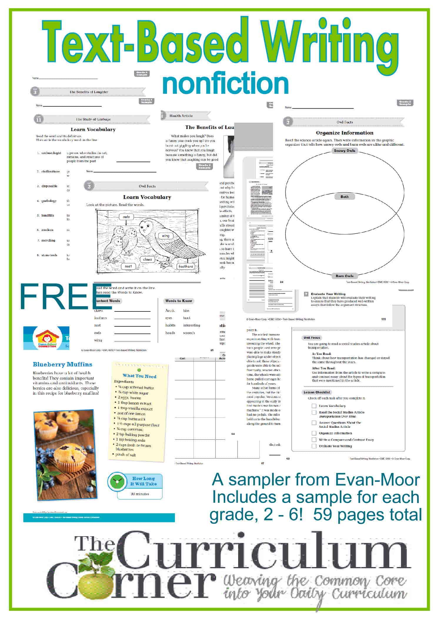 Text-Based Writing Resources & FREEBIE from Evan-Moor!
