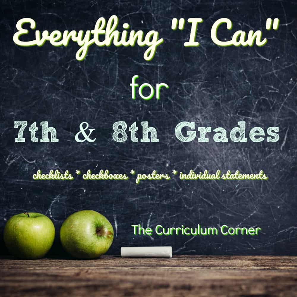 "Everything ""I Can"" Common Core for 7th & 8th Grades"