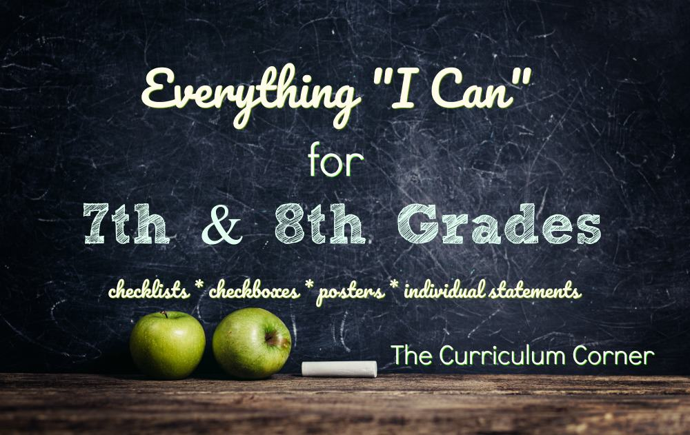 "FREE Everything ""I Can"" for Common Core 