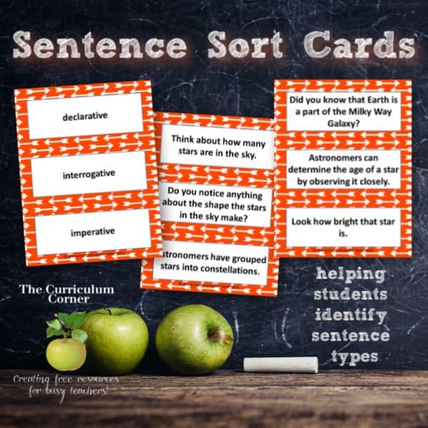 Sentence Sort Cards