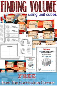 FREE Finding Volume Using Unit Cubes from The Curriculum Corner