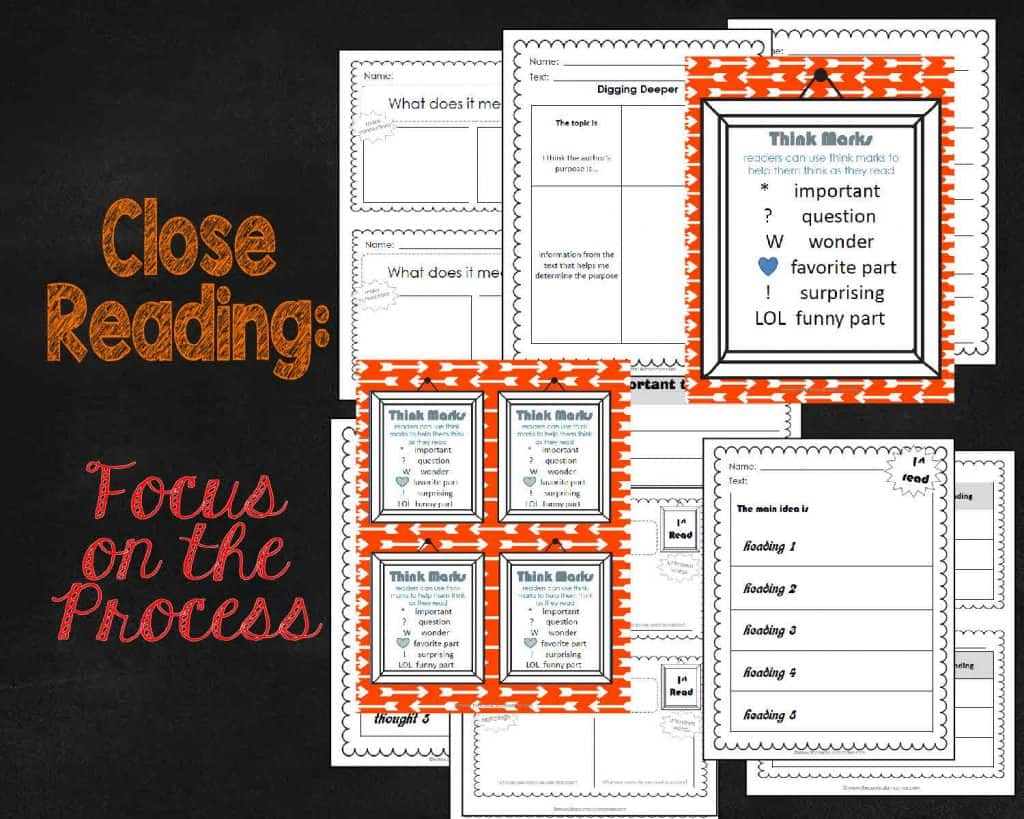FREE Close Reading: Focus on the Process Collection from The Curriculum Corner | Close Reading Process