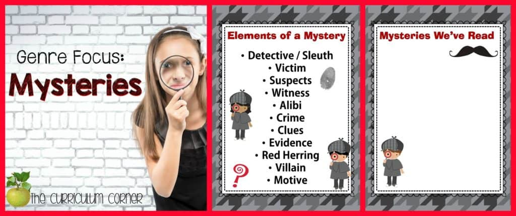 FREE Mysteries Unit of Study for 4th & 5th Grades from The Curriculum Corner | Reading Workshop | Intermediate Classrooms | Mystery