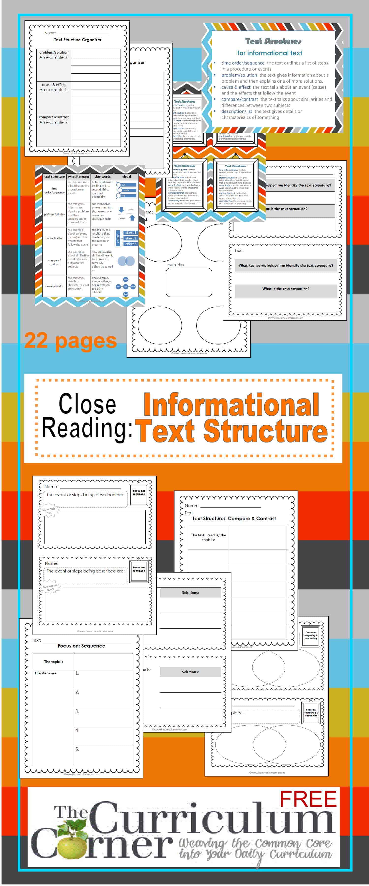 Close Reading: Informational Text Structures