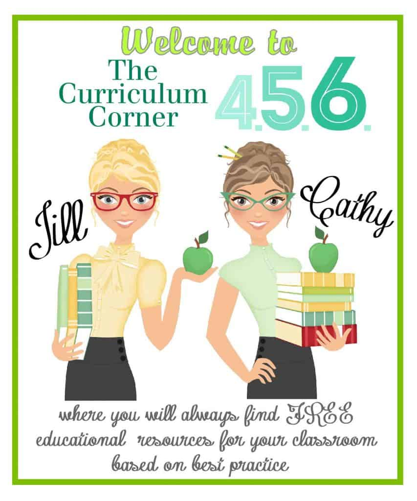 Welcome to The Curriculum Corner 456 where you will find FREE resources for your classroom based on best practice