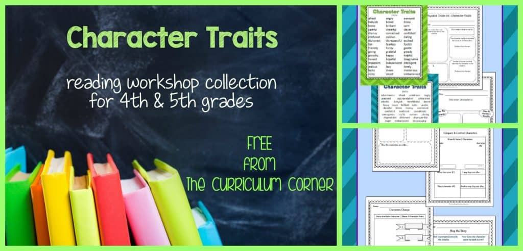 FREE! Identifying and Finding Evidence to Support Character Traits Collection | Reading Workshop | 4th and 5th Grades | The Curriculum Corner