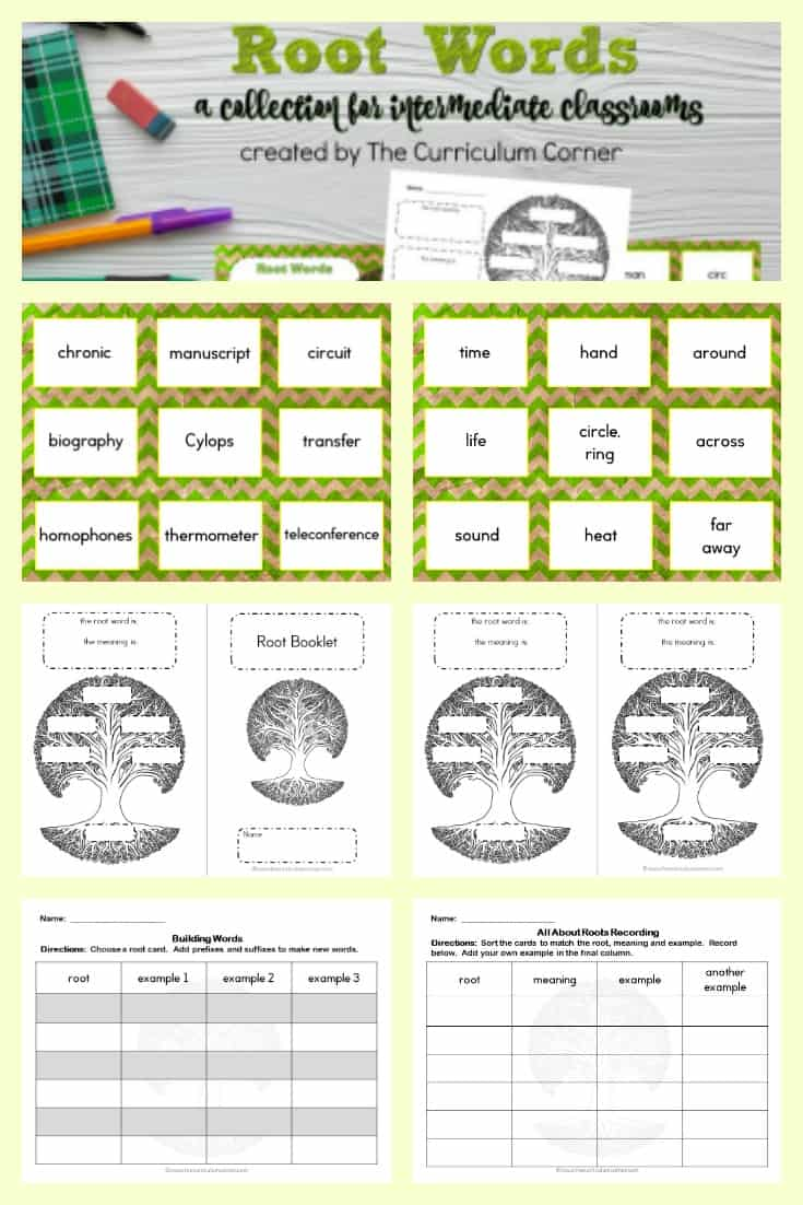 Use this free collection of root word resources for prefix practice in your fourth or fifth grade classroom.