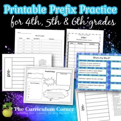 Prefix Printables & Resources