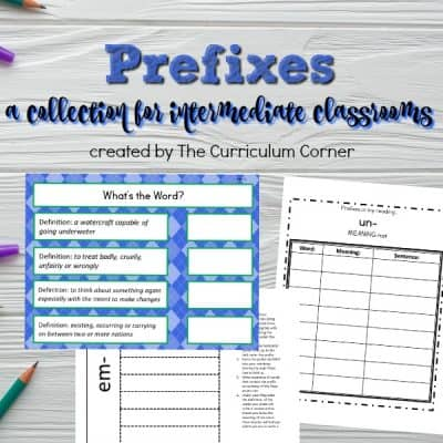 Prefix Printables & Resources