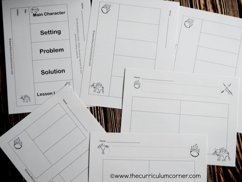 Native Americans: teaching ideas for some favorite books includes over 20 graphic organizers   FREE from The Curriculum Corner