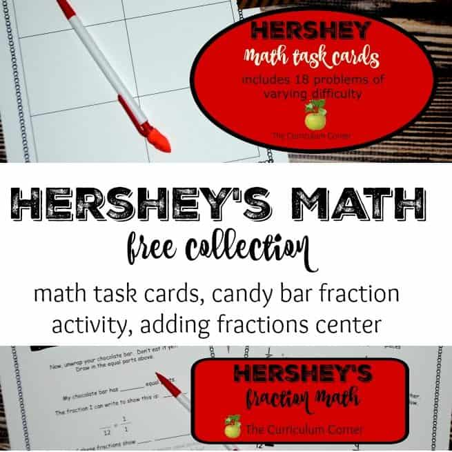 This Hershey Math Collection will help you engage your students during math class with learning that involves a student favorite, chocolate!