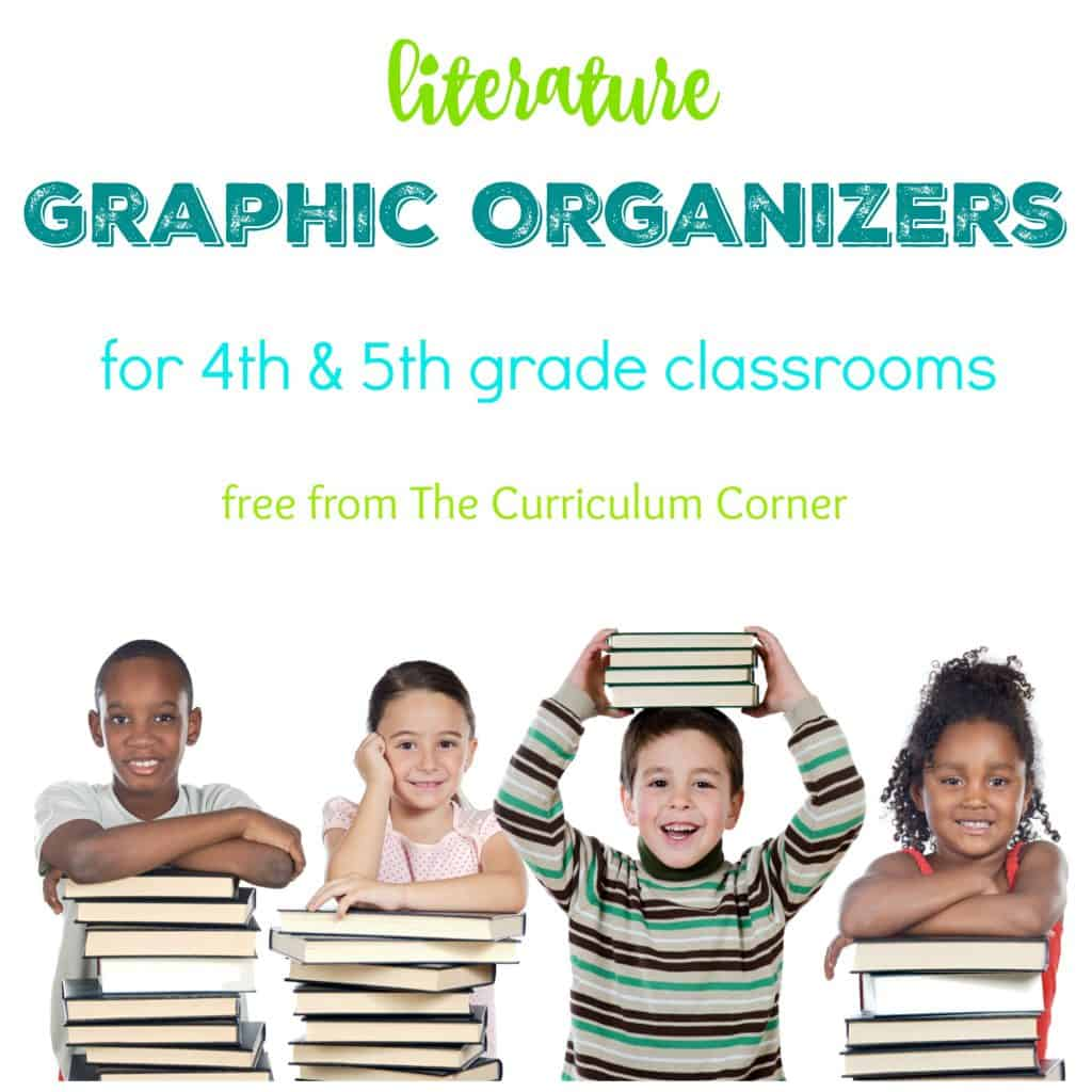 These literature graphic organizers have been created by The Curriculum Corner and are designed to meet 4th and 5th grade standards.