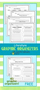 40 Literature Graphic Organizers for 4th & 5th grades free from The Curriculum Corner | Fiction