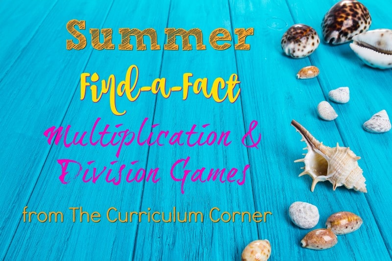 These free multiplication and division fact practice games can be used in the classroom or home for summer practice.
