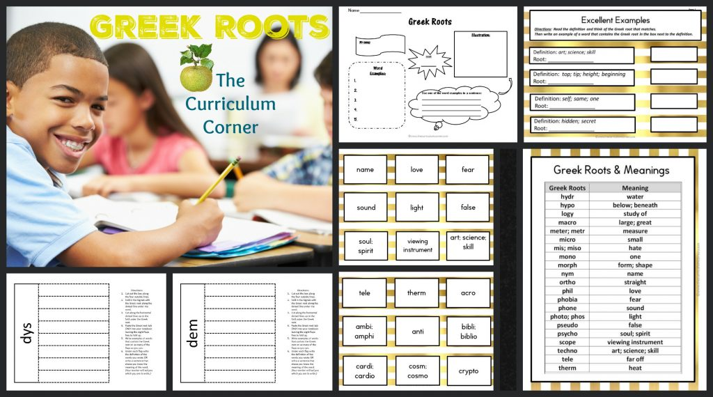 Greek Roots Collection FREE from The Curriculum Corner