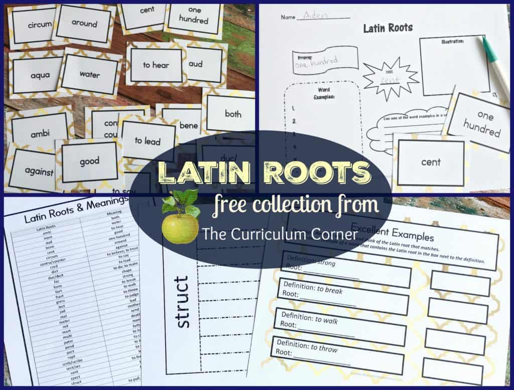 Latin Roots Collection of FREE resources from The Curriculum Corner