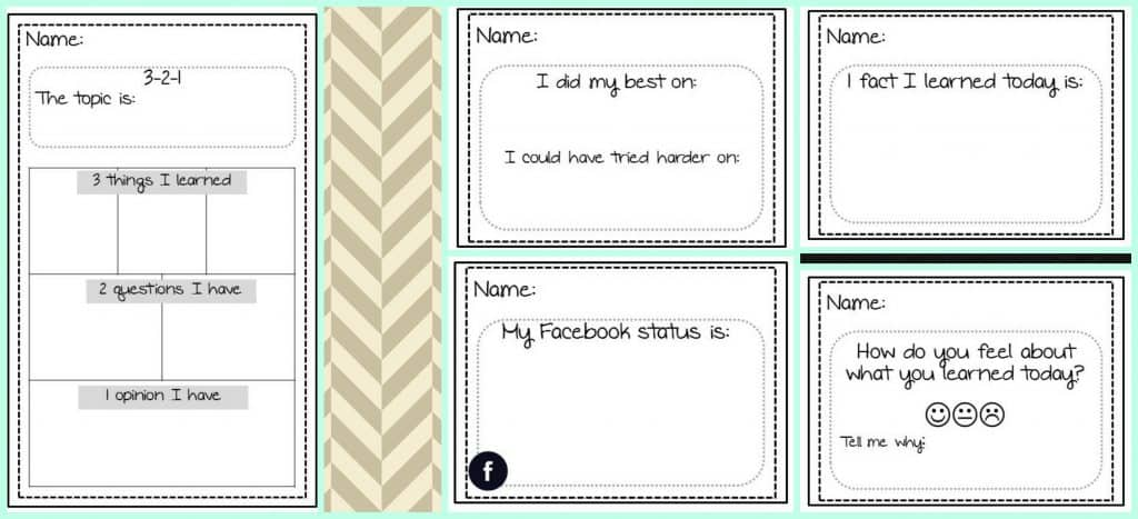 photograph about Printable Exit Tickets called Editable Exit Tickets - The Curriculum Corner 4-5-6