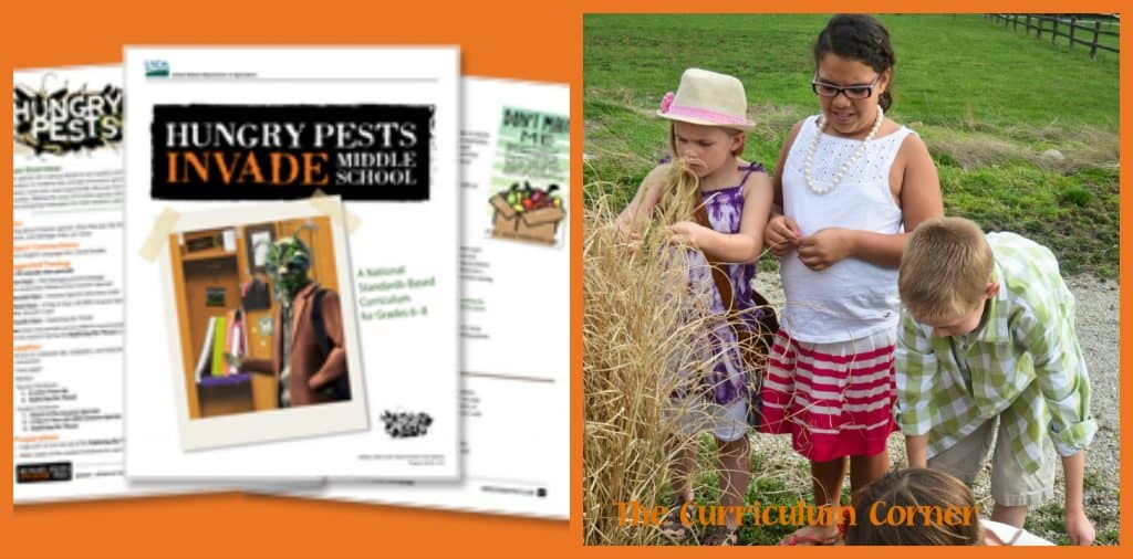 FREE Hungry Pests Curriculum - FREE and fits standards in grades 6 - 8, from USDA
