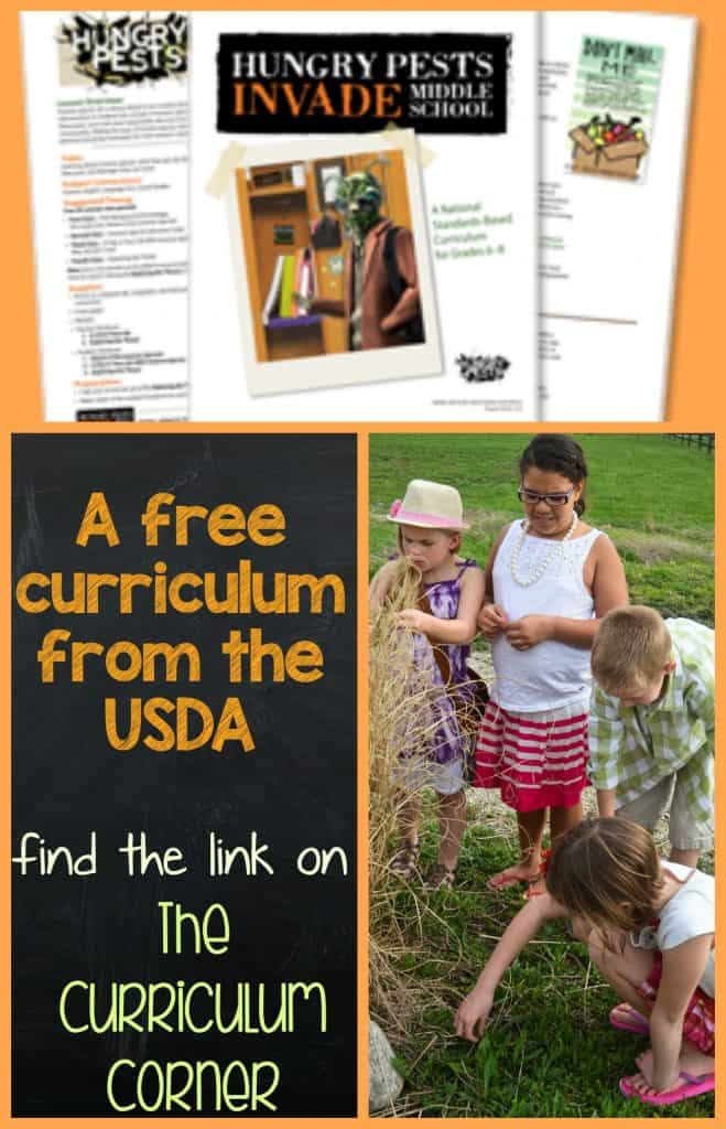 FREEBIE! Hungry Pests Curriculum - FREE and fits standards in grades 6 - 8, from USDA