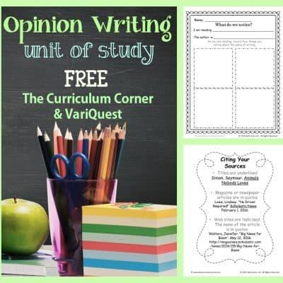 Opinion Writing Unit of Study