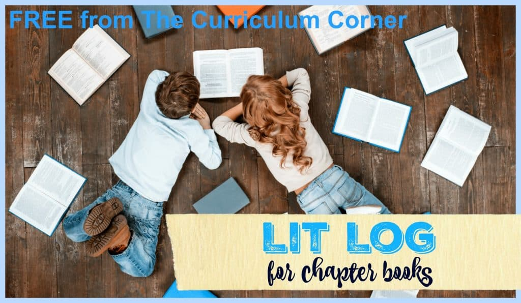 FREEBIE Literature Log for Chapter Books | Reading Reflection | FREE from The Curriculum Corner