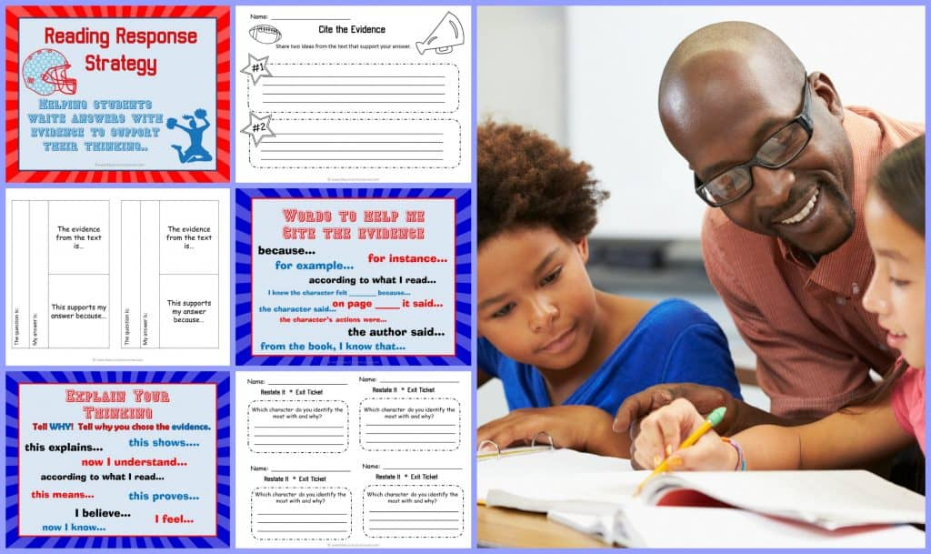 FREE Reading Response Strategy Collection from The Curriculum Corner | Siting sources | Providing evidence