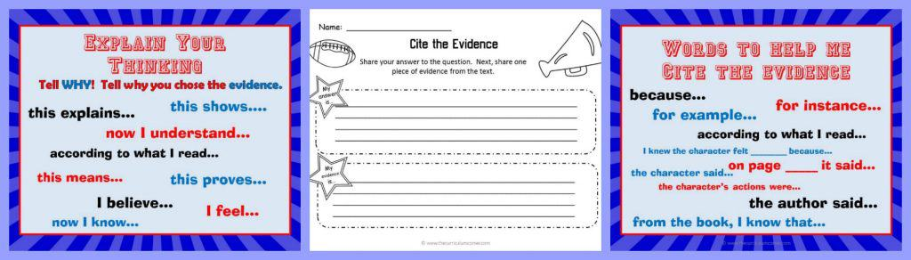 FREEBIE Reading Response Strategy Collection from The Curriculum Corner | Siting sources | Providing evidence free to help students write essays!