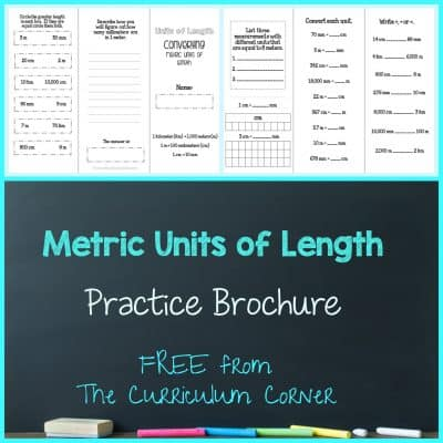 Converting Metric Units of Length Brochure