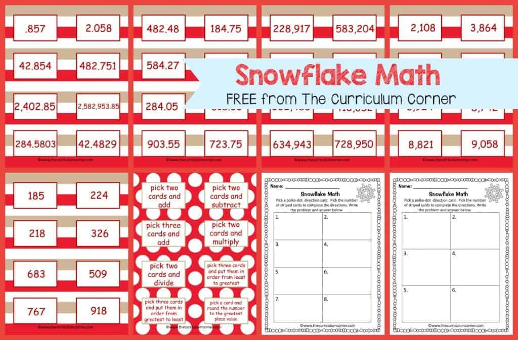 Frosty Fun Math Centers