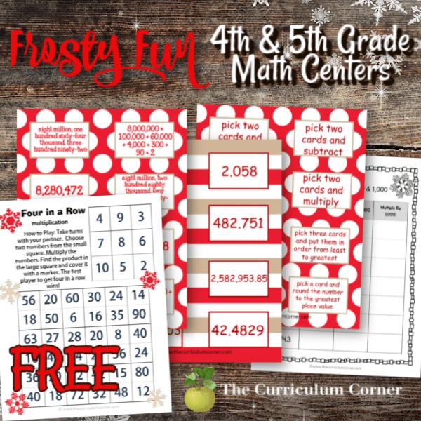 Frosty Fun Winter Math Centers