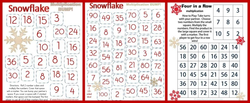 Frosty Fun Math Centers for 4th & 5th Grades | Winter Themed FREE from The Curriculum Corner