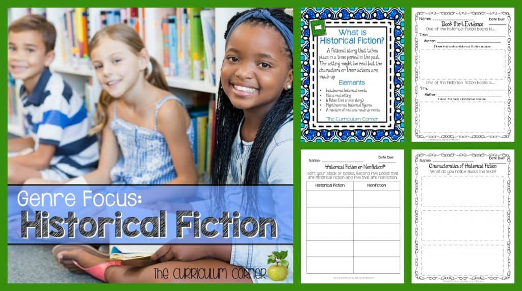 FREE Historical Fiction Reading Collection from The Curriculum Corner | Reading Workshop | Intermediate Classrooms