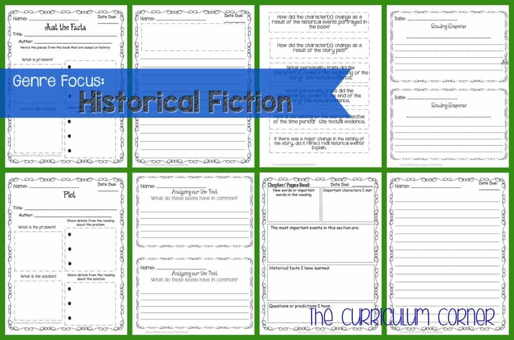 Genre Focus Historical Fiction The Curriculum Corner 4 5 6