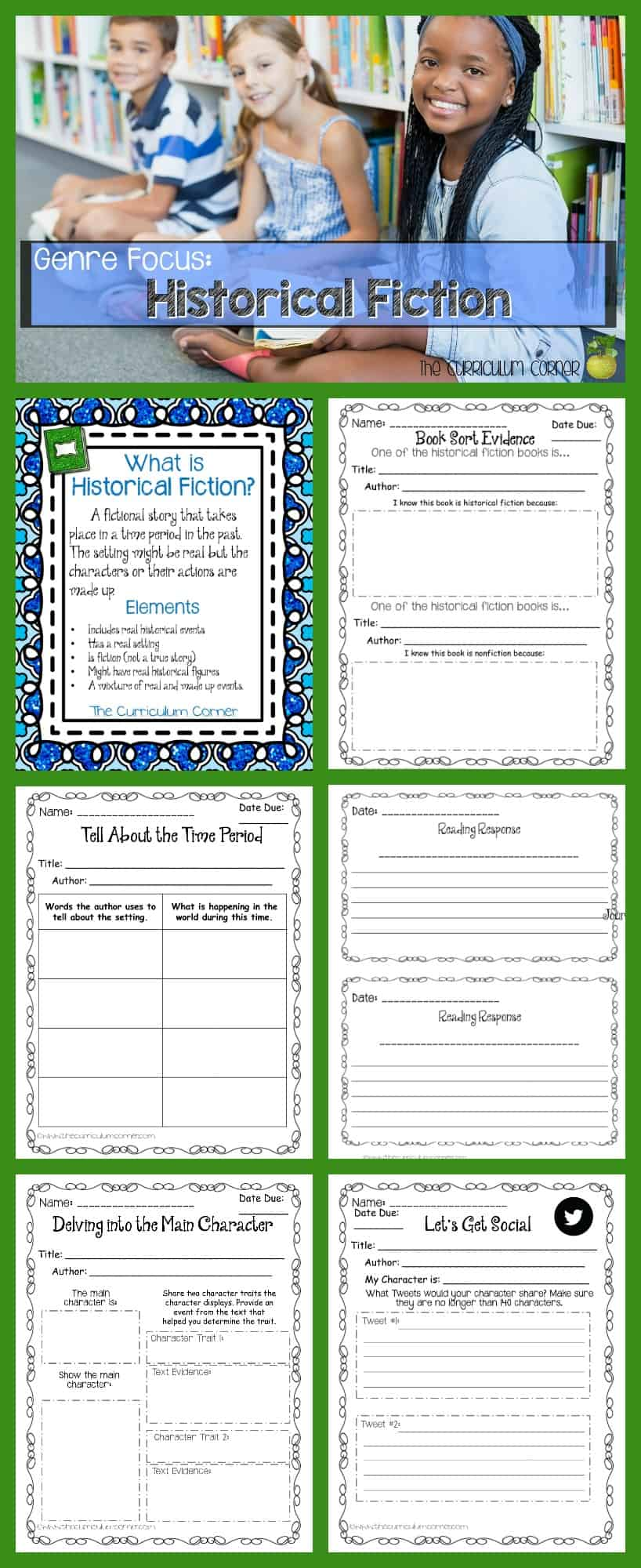 Help your students begin to explore historical fiction with this collection of resources that are just right for intermediate classrooms!