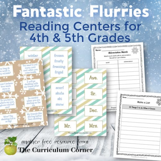 Fantastic Flurries Reading Centers