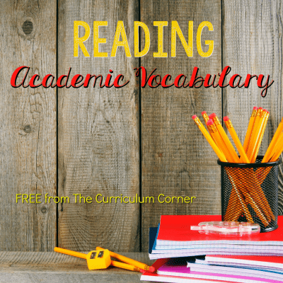 Reading Academic Vocabulary Booklet