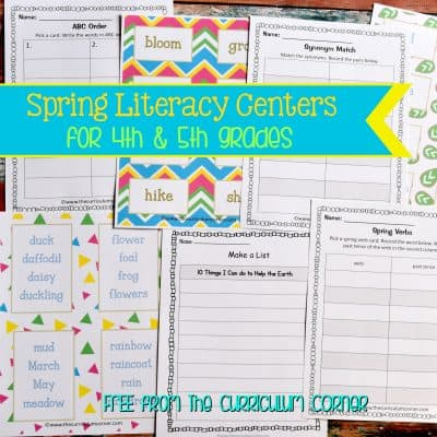 Spring Language Arts Centers