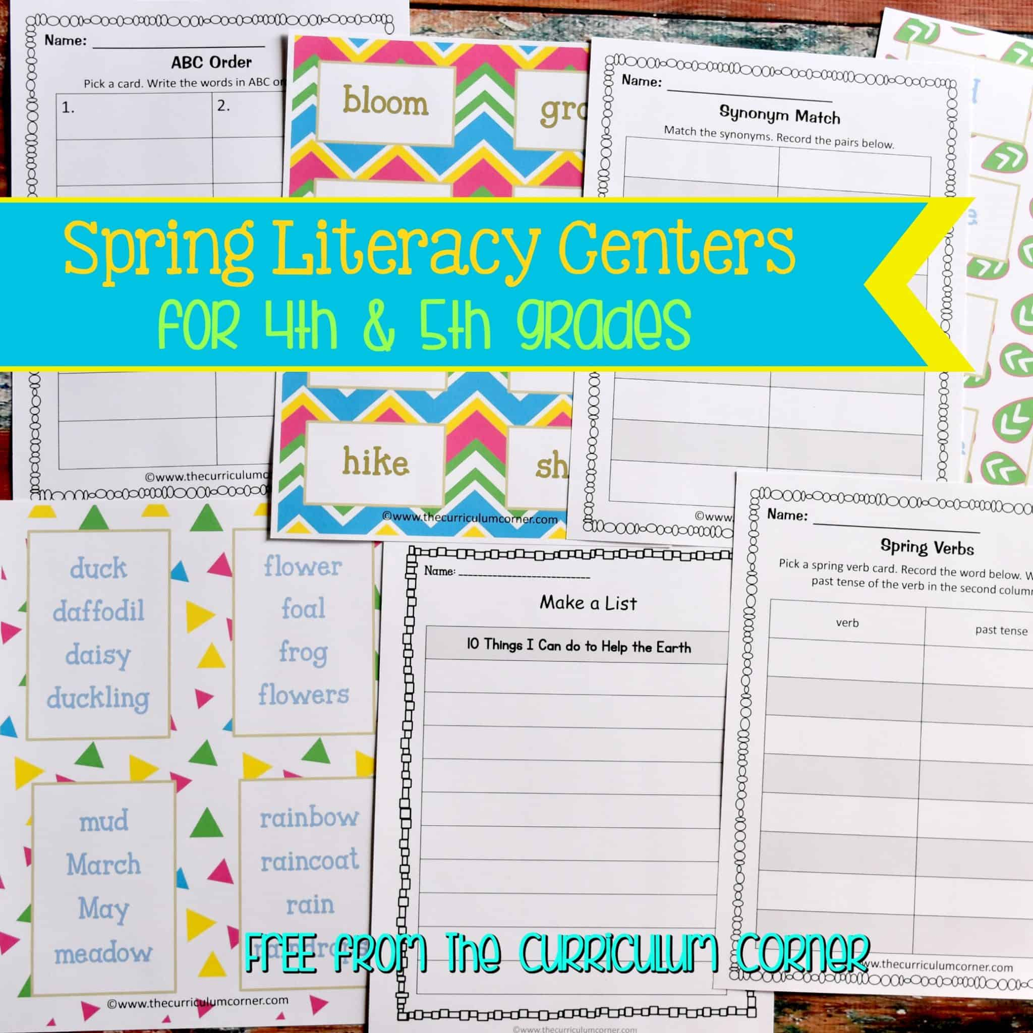 Spring Language Arts Centers