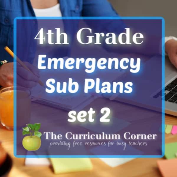 4th Grade Sub Plans – Set 2