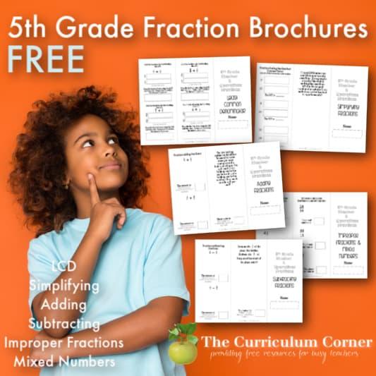 Fraction Practice Brochures