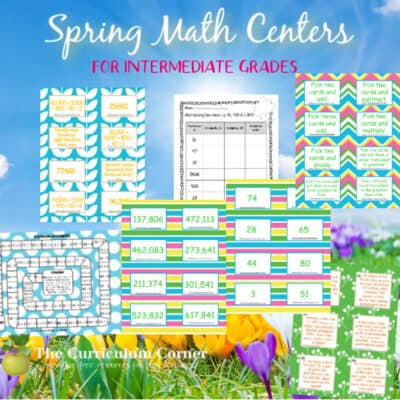 Splashes of Spring Math Centers