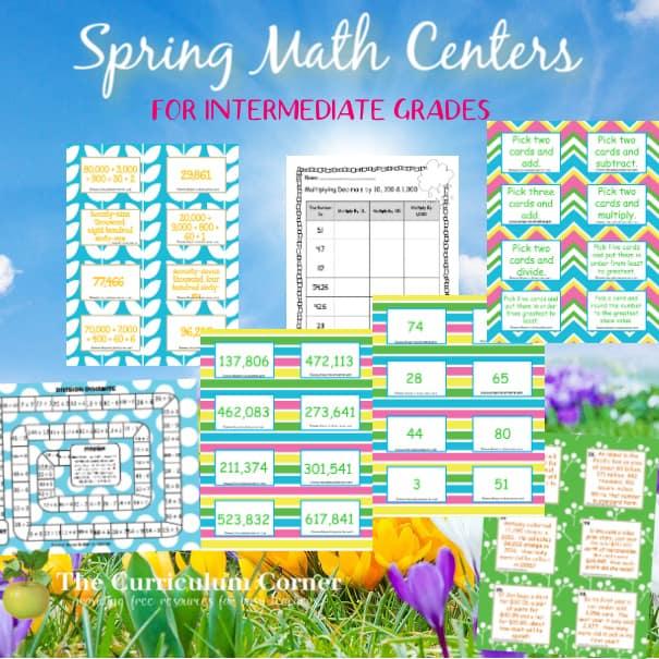 Splashes of Spring Math Centers